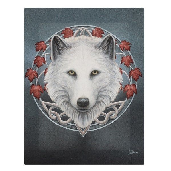 LISA PARKER Guardian of the Fall Wolf Canvas Picture